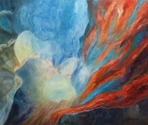 Carole Parent. La fonte. Huile sur toile. 20''x 24''