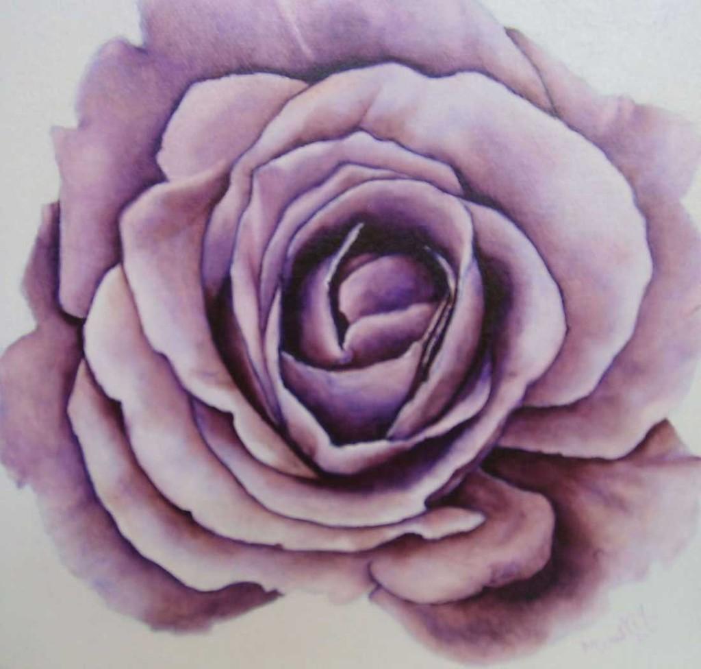 """MOUSTIK. LA ROSE. HUILE SUR TOILE. 8""""x8""""- 2011. 125.$"""