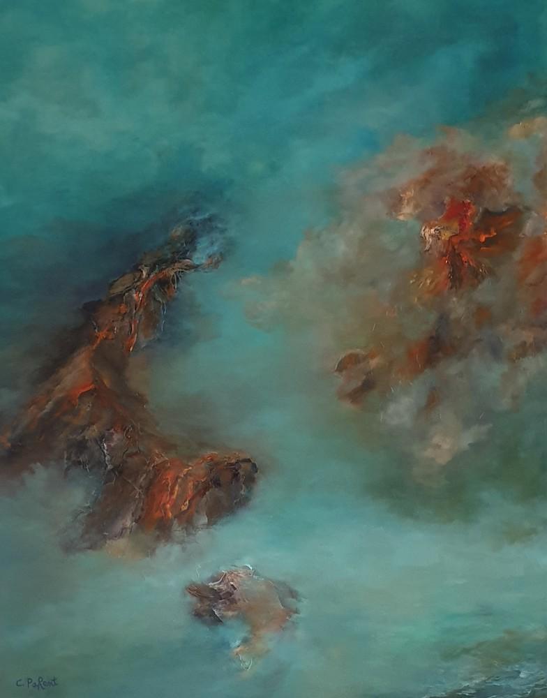 Carole Parent. L'alchimie de la vie. Huile sur toile, 30''x24''. Disponible
