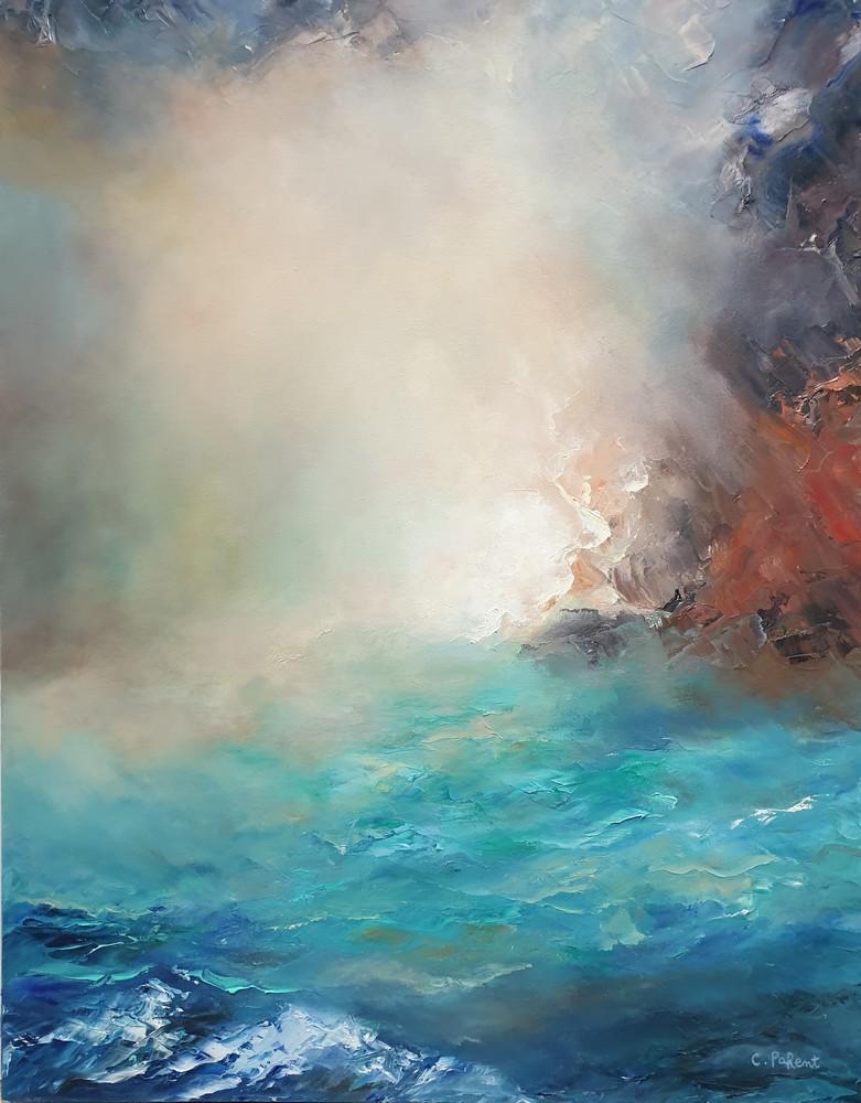 Carole Parent. L'ivresse de la lumière. Huile sur toile, 28''x22''. Disponible