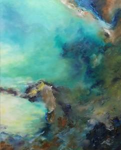 Carole Parent. Sur les ailes du temps. Huile sur toile, 30''x 24''. Disponible